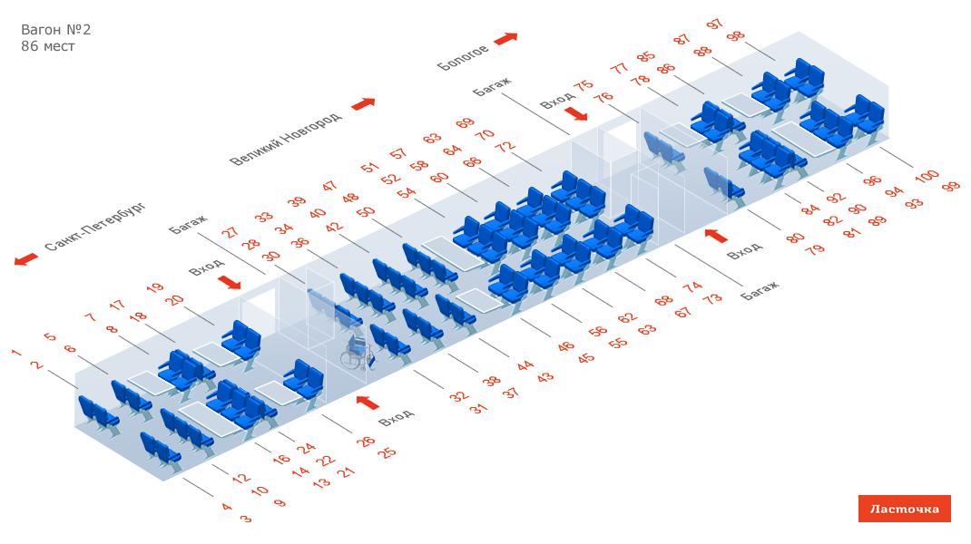 Схема проезда поезда 2